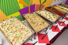 Delicious Asian style buffet meal Stock Photos
