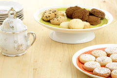 Delicious assorted cookies Stock Photos