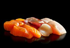 Delicious Assorted Sashimi Royalty Free Stock Photos