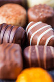 Delicious assortment of chocolates Stock Photography