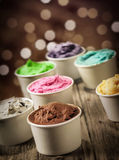 Delicious assortment of party ice cream Stock Photography