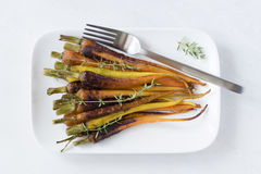 Delicious Baby Rainbow Carrots Stock Images