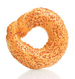 Delicious bagel with sesame seeds Royalty Free Stock Photos