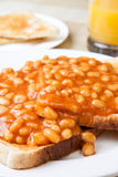 Delicious baked beans on toast Royalty Free Stock Image