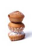 Delicious baked muffins on a white background Stock Image