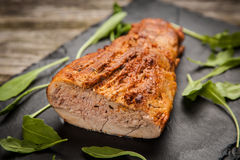 Delicious baked pork Stock Photography