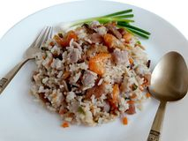 Delicious Baked rice with Taro stock image