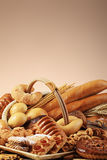 Delicious bakery. Bakery foodstuffs. Shot in a studio Stock Photos