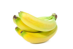 Delicious bananas. Bunch of perfectly looking bananas isolated on white background Royalty Free Stock Photo