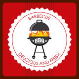 Delicious barbecue barbeque. Delicious barbecue design, vector illustration eps10 graphic royalty free illustration