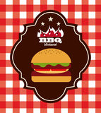 Delicious barbecue barbeque. Delicious barbecue design, vector illustration eps10 graphic vector illustration