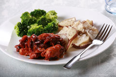 Delicious barbecue chicken meal Stock Image