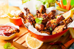 Delicious barbecue chicken wings Royalty Free Stock Photography