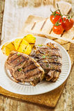 Delicious barbecued lunch on a summer picnic Royalty Free Stock Photo