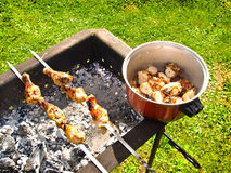 Delicious barbeque, broil, and grilled Royalty Free Stock Images