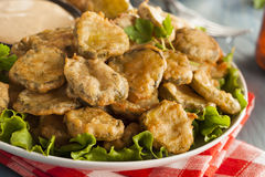Delicious Battered Fried Pickles Stock Image