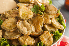 Delicious Battered Fried Pickles Stock Photography
