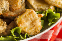 Delicious Battered Fried Pickles Royalty Free Stock Photography