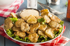 Delicious Battered Fried Pickles Royalty Free Stock Images