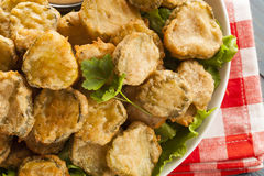 Delicious Battered Fried Pickles royalty free stock photos