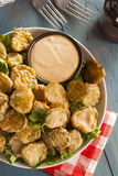 Delicious Battered Fried Pickles Stock Photos