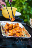 Delicious BBQ cooked pineapple Royalty Free Stock Photos