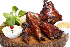Delicious BBQ ribs Stock Images