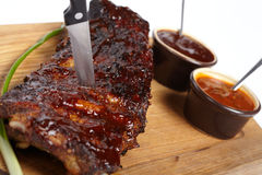 Delicious BBQ ribs Royalty Free Stock Photo