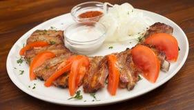 Delicious BBQ ribs Stock Photo