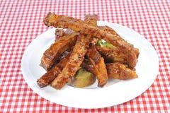 Delicious BBQ ribs Stock Photos