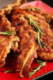 Delicious BBQ spare ribs Stock Image