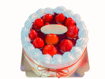 Delicious and beautiful strawberry cake Royalty Free Stock Photography