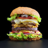 Delicious beef burger Royalty Free Stock Images
