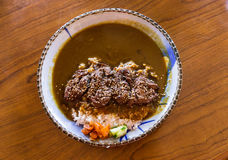 Delicious beef curry rice bowl. Stock Photography