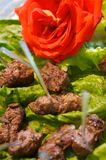 Delicious beef kabob appetizers Stock Image