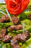 Delicious beef kabob appetizers Stock Photos