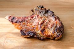 Delicious beef meat with smoke grilled stock images