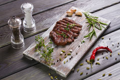 Delicious beef steak. royalty free stock photos