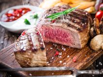 Delicious beef steak Royalty Free Stock Photos