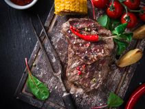 Delicious beef steak Royalty Free Stock Photo