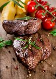 Delicious beef steaks Royalty Free Stock Photos