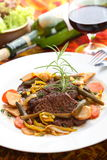 Delicious beef in the wine royalty free stock images