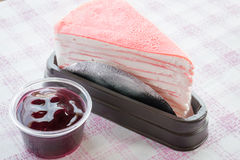 Delicious bekery set of crepe cake Royalty Free Stock Photo
