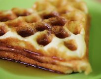 Delicious Belgian waffles Stock Images