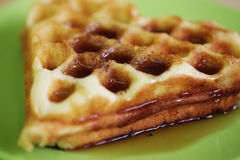Delicious Belgian waffles Stock Photo