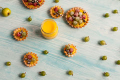 Delicious berries tarts Stock Images