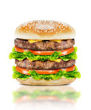 Delicious big burger Stock Photos