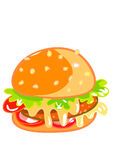 Delicious Big Hamburger Stock Image