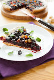 Delicious big piece of cake with berries Stock Image