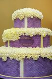 Delicious big violet wedding cake Stock Image